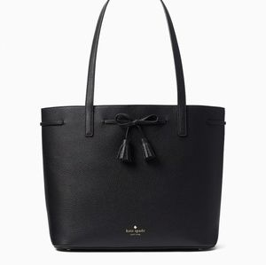 NWT Kate Spade Hayes St. Nandy tote blk/pnk
